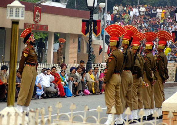 Witness the Wagah Border ceremony
