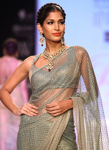 A model walks the ramp for Prisha