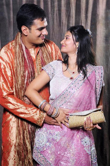 Vitika Aditya Bansal with her husband Aditya