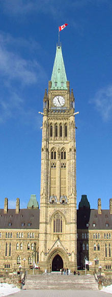 Peace Tower at Parliament Hill, Ottawa, Ontario, Canada