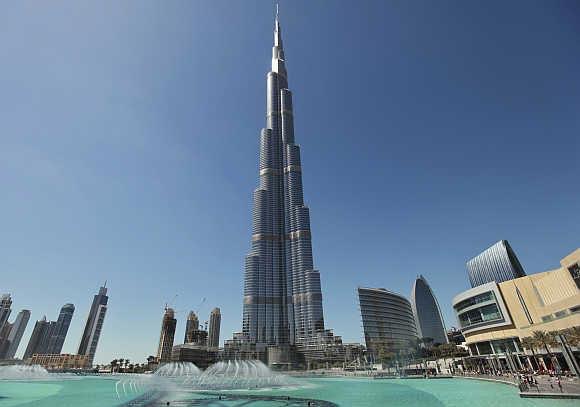 A view of Burj Khalifa in Dubai.