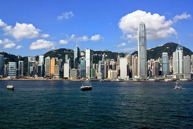 Central district skyline, Hong Kong