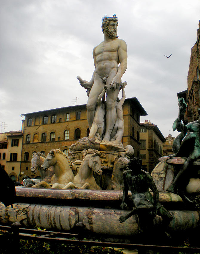 Florence, a city that is strewn with art on its streets.