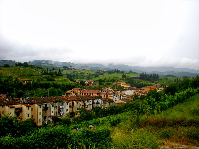 Greve in Chianti is about an hour from Florence but worlds apart in its landscape.