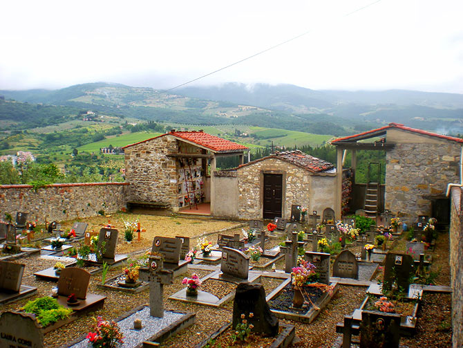 Cemetery in Montefioralle