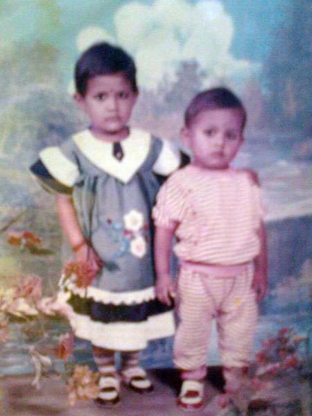 Sarika with her brother Sumesh