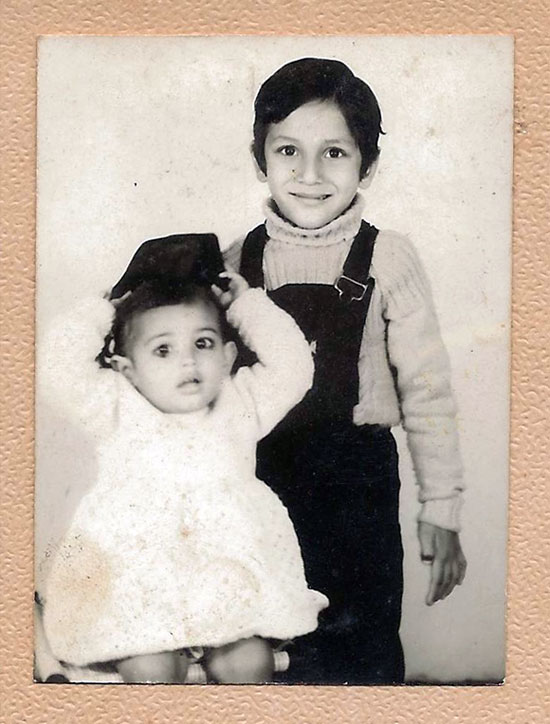 Mansi Manchanda with her brother Sahil