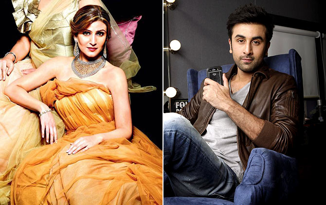 Riddhima Kapoor Sahni and Ranbir Kapoor