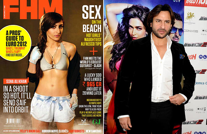 Soha and Saif Ali Khan