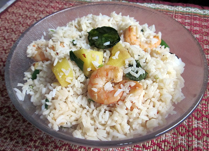 Pineapple and Prawn Fried Rice