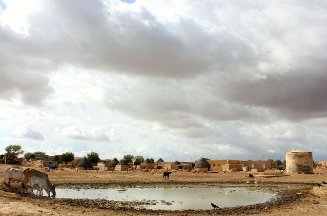 A village near Jaisalmer, Rajasthan.