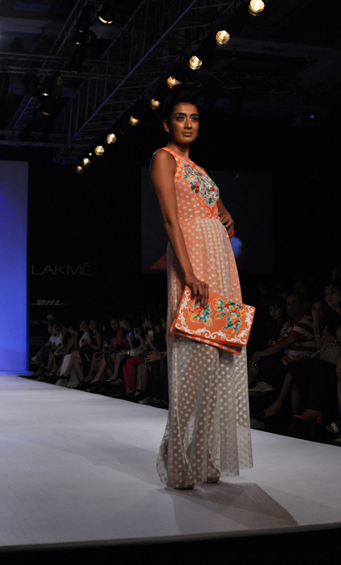 Binal Trivedi presents a maxi gown by Ranna Gill