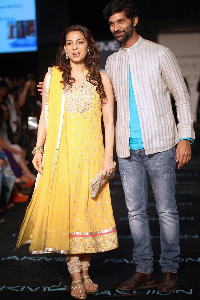 Juhi Chawla and Purab Kohli
