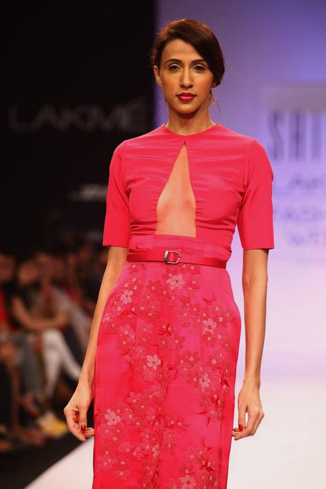 Alesia Raut showcases a Sailex creation.