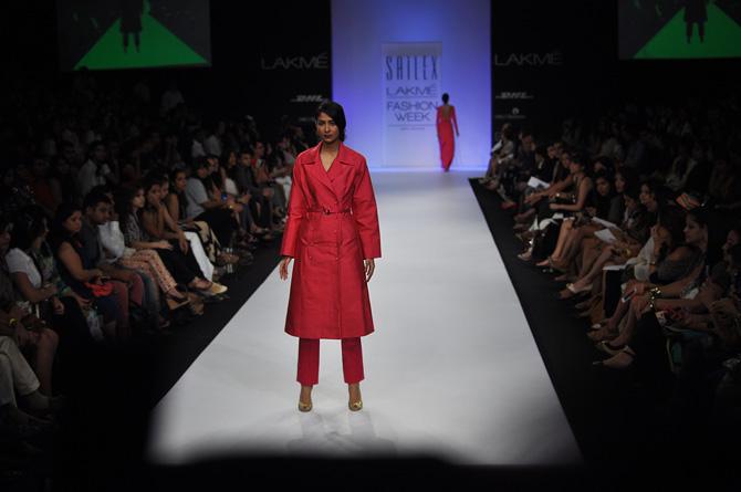 A model showcases a Sailex creation
