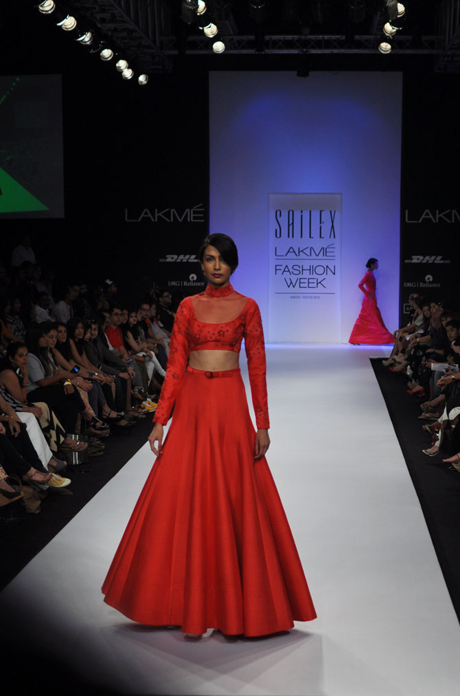 Sanea Sheikh showcases a Sailex creation.