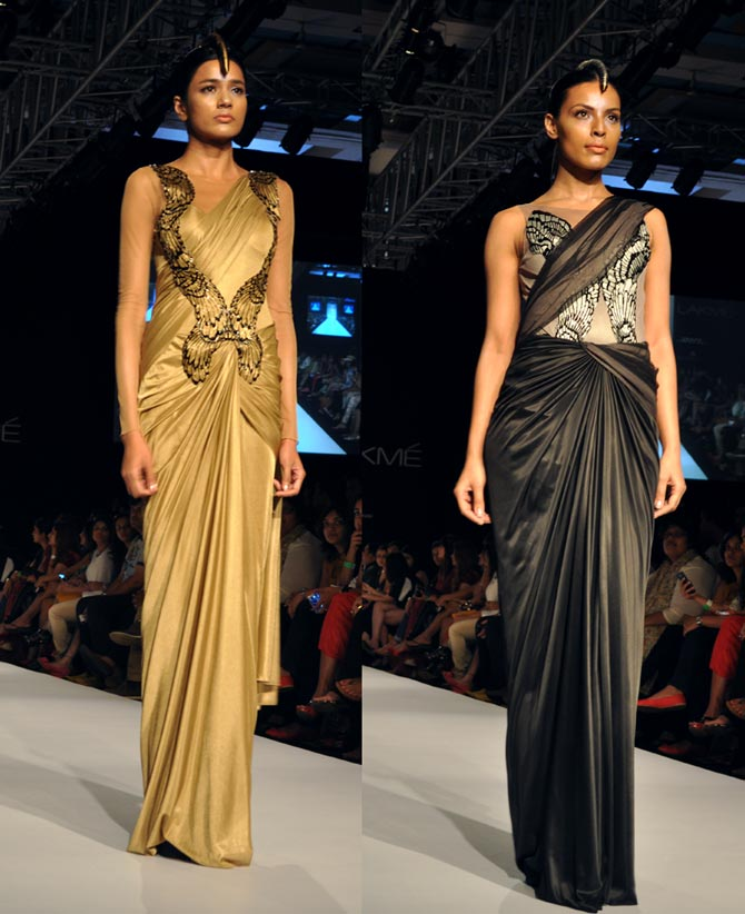 Amit Aggarwal's creations in gold and black