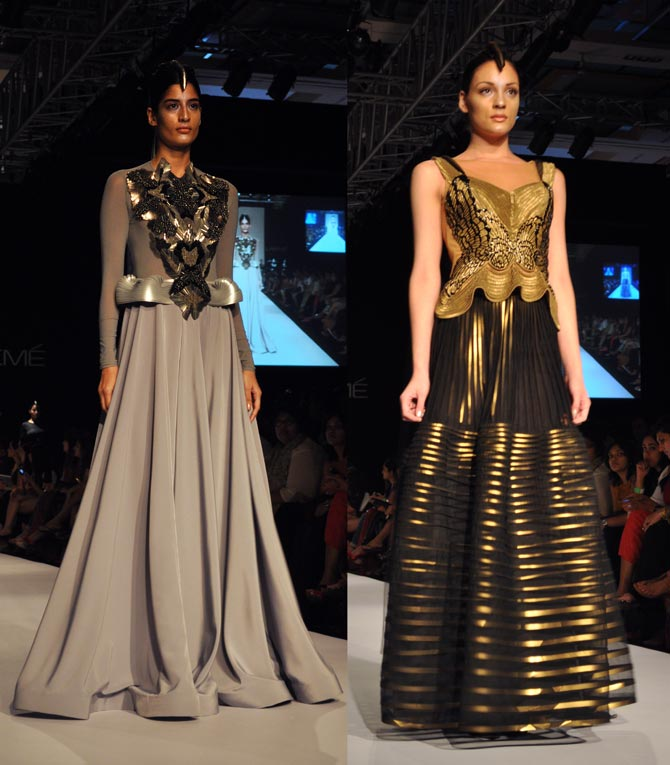 Amit Aggarwal's creations in grey and black