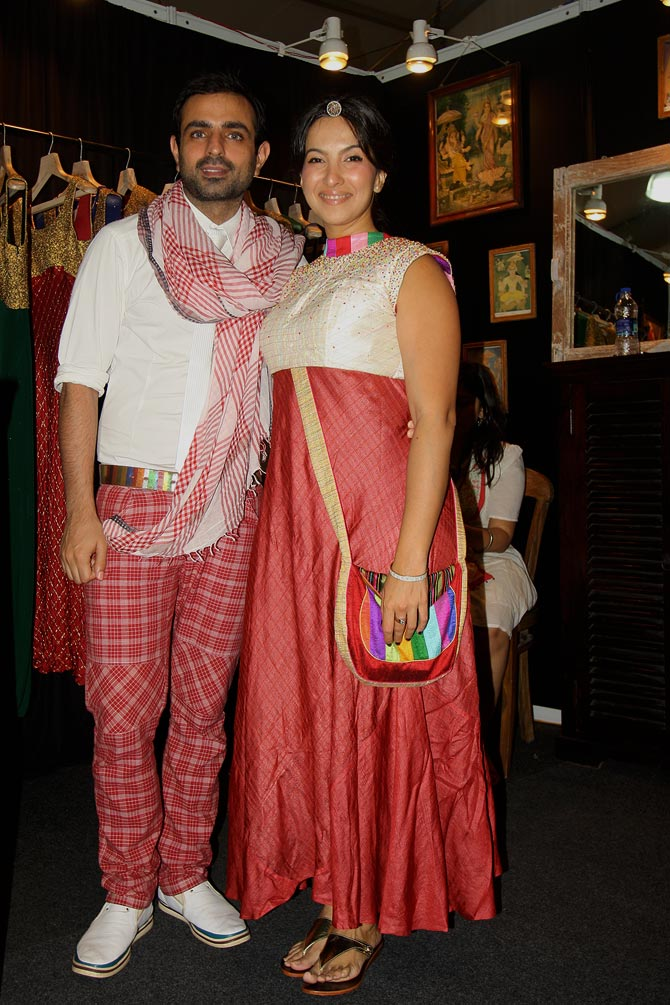 Designers Mayank Anand and Shraddha Nigam