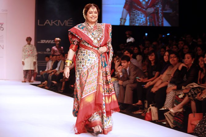 Kirron Kher in a Gaurang Shah creation