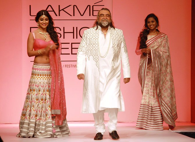 Shriya Saran and Prahlad Kakkar in a Shravan Kumar creation