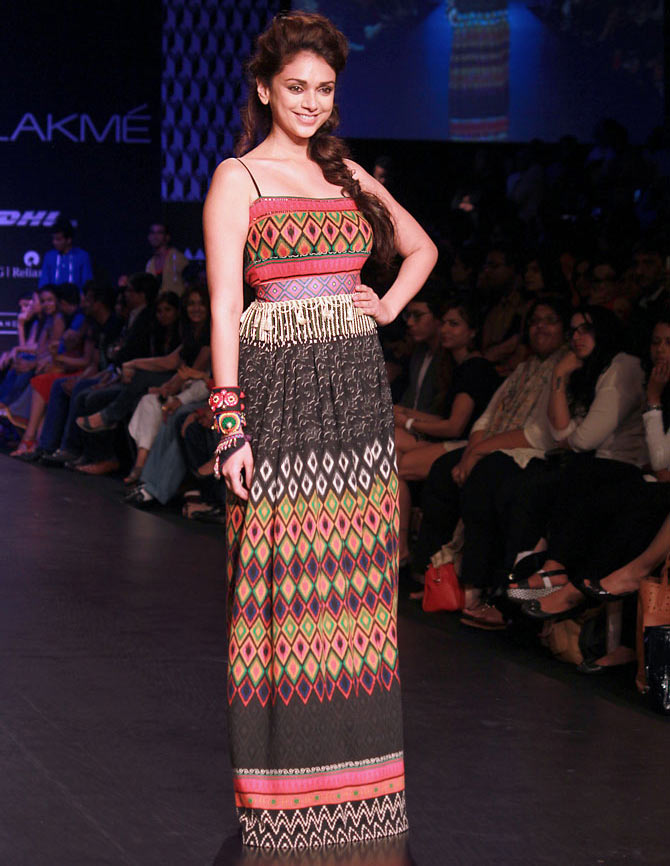 Aditi Rao Hydari walked for the brand Global Desi