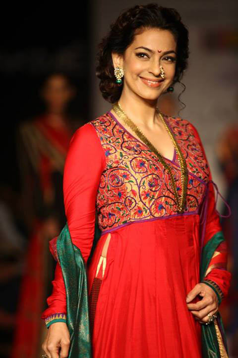 Juhi Chawla walked for designer Shruti Sancheti