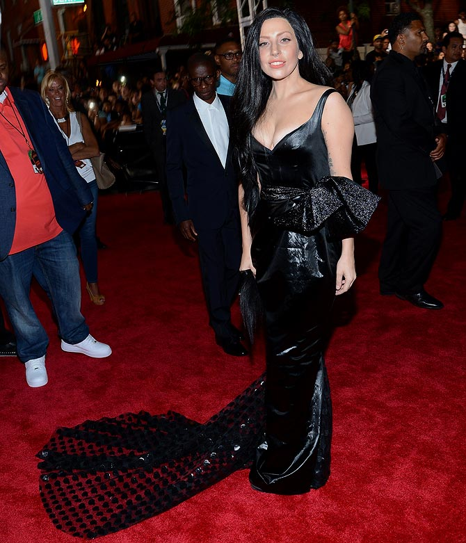 Lady Gaga attends the 2013 MTV Video Music Awards at the Barclays Center on August 25, 2013 in the Brooklyn borough of New York City