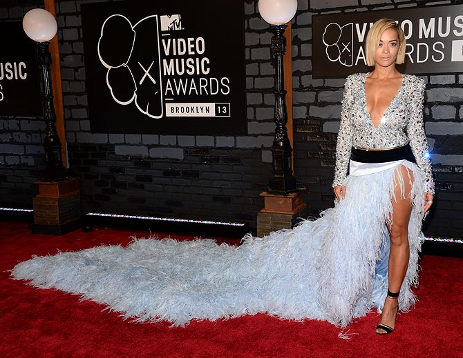 Rita Ora attends the 2013 MTV Video Music Awards at the Barclays Center on August 25, 2013 in the Brooklyn borough of New York City