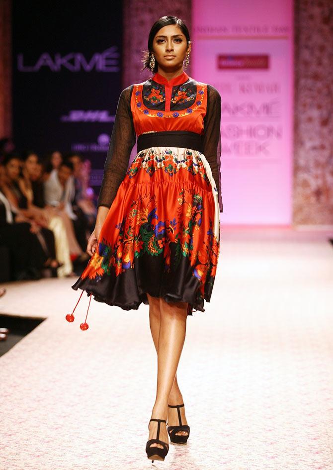 Model Kritikka Babu in a Ritu Kumar creation
