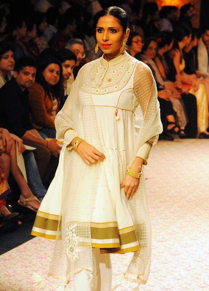 Model Candice Pinto in a Ritu Kumar creation