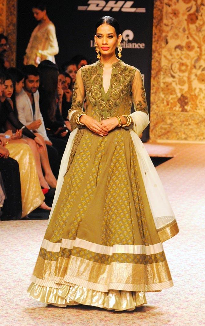 Model Sony Kaur in a Ritu Kumar creation