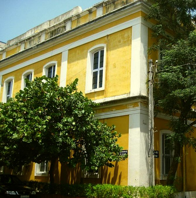 Building of the Ecole Française d'Extreme Orient in Puducherry, Tamil Nadu