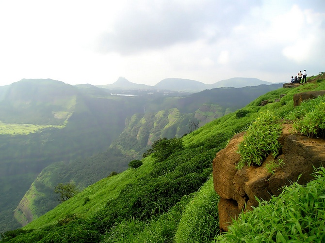 A view of the Western Ghats, Lonavala