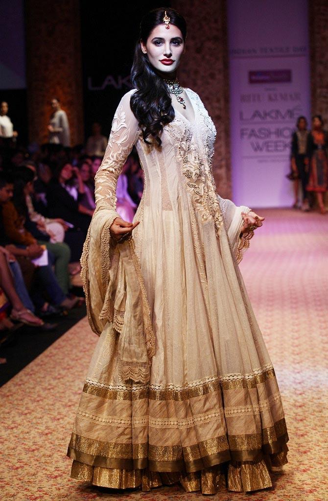 Nargis Fakhri for Ritu Kumar
