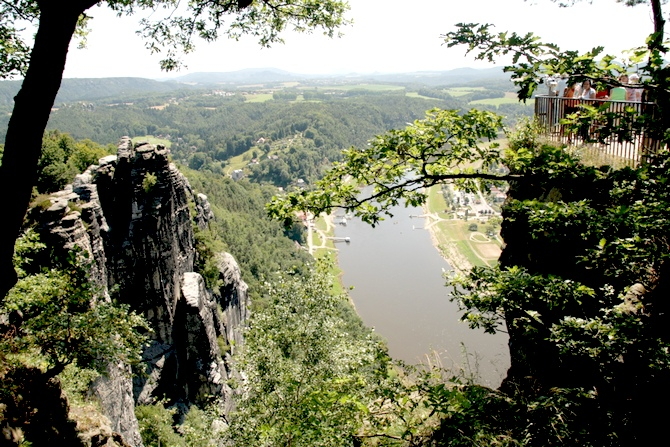 Bastei rock formations on the Elbe.
