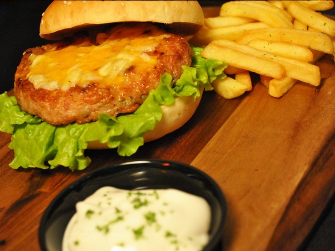 Chicken Burger by Fork You Steak House and Burger Bar