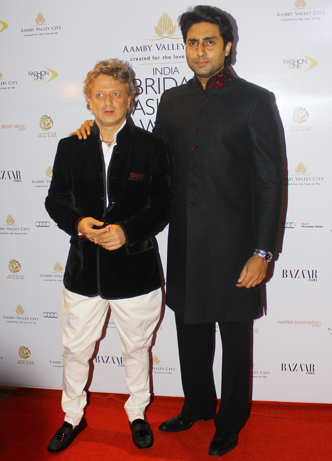Rohit Bal and and Abhishek Bachchan