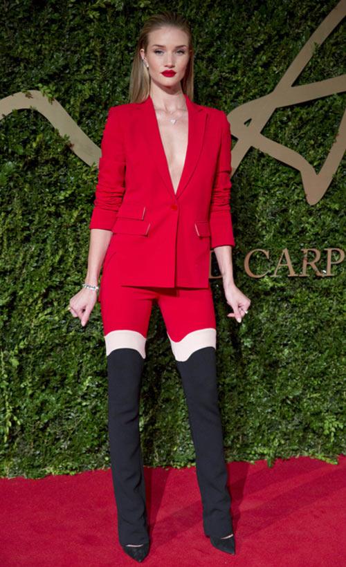 Model Rosie Huntington-Whiteley at the British Fashion Awards