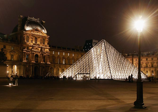 The Pyramide of the Louvre Museum designed by IM Pei is seen in Paris, France.