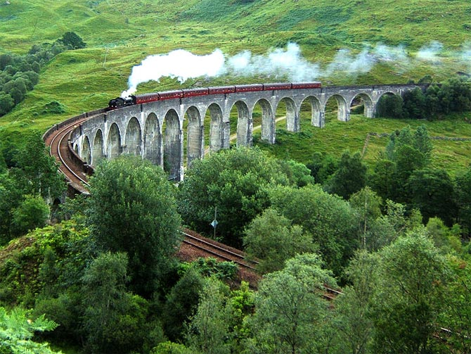 The iconic Glenfinnan Viaduct