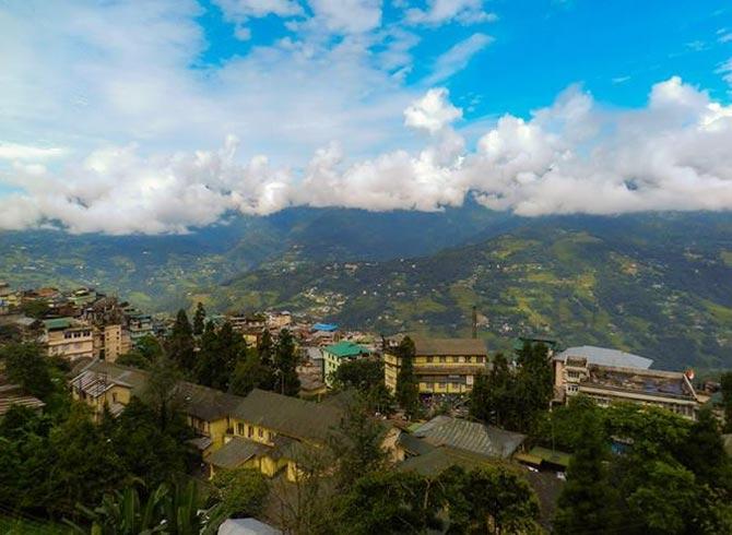 A view of Gangtok, Sikkim