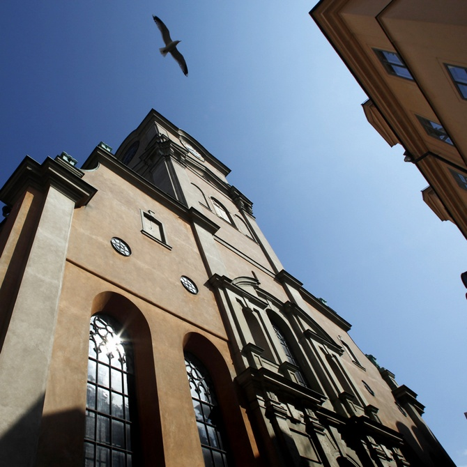 An exterior view of Storkyrkan, the Stockholm cathedral