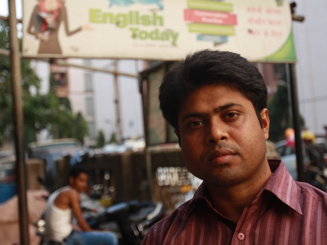 Hasib Ahmed runs English Today, a small English-speaking academy that doubles up as a tuition class for school children.