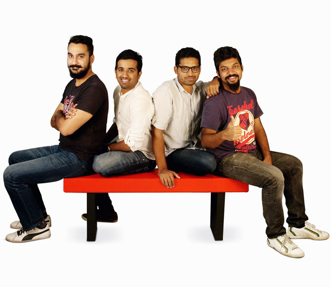 From left: Aditya Dhull, Prince Jacob Thomas, Mohit Narwal and Chandy Thomas