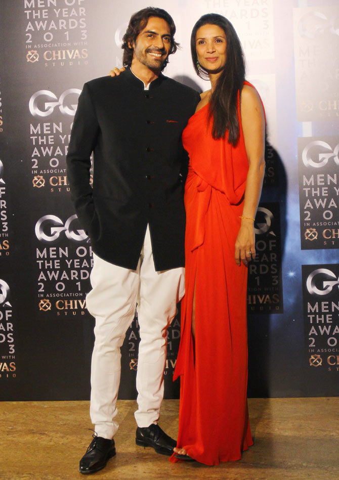 Arjun Rampal and Mehr Jesia