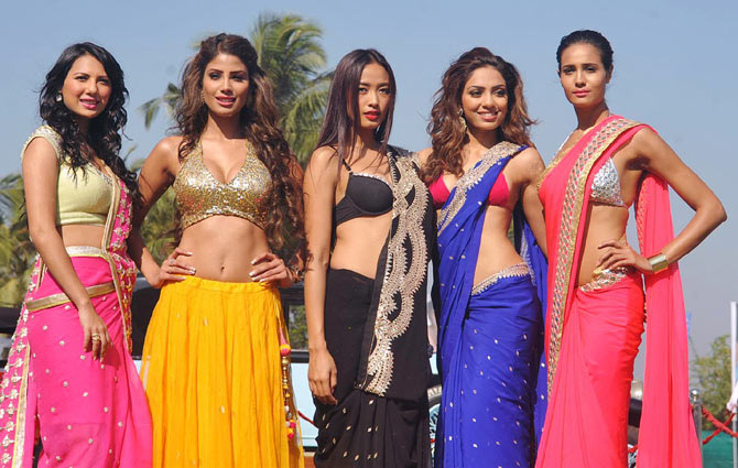 Seen here (from L-R) are Rochelle Maria Rao, Nicole Faria, Katheleno Kenze, Sobhita Dhulipala and Rikee Chatterjee
