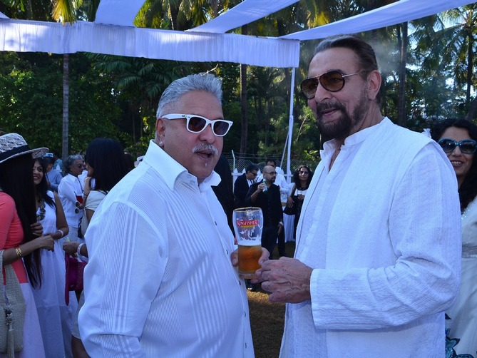 Vijay Mallya and Kabir Bedi