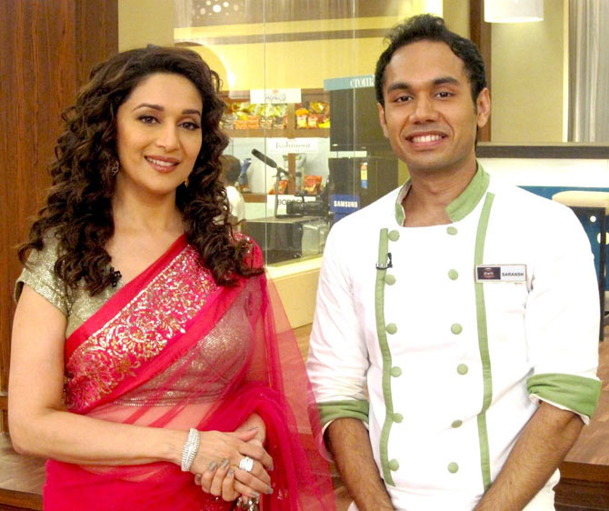 Saransh Goila with Madhuri Dixit