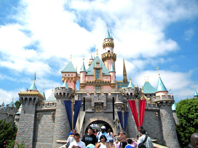 The Sleeping Beauty Castle at Disneyland, Anaheim, California